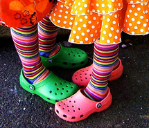 colorful-crocs-feet-friends-kids-legs-96169