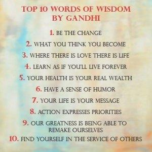 Words of Wisdom by Gandhi