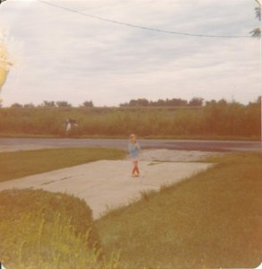 First time waiting for school bus 1979